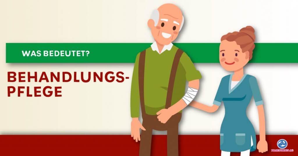 Pflegerin unterstütz älteren Herren
