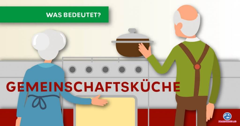 Zwei Bewohner kochen gemeinsam in der Küche